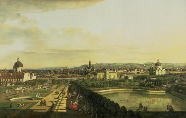 The Belvedere from Gesehen Vienna | Bernardo Bellotto | oil painting