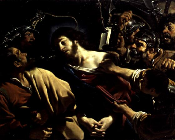 The Betrayal of Christ 1621   Guercino   oil painting