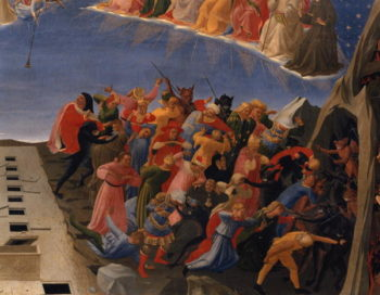 The Last Judgement detail of the damned 1431 | Fra Angelico | oil painting