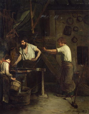 The Blacksmiths Memory of Treport 1857 | Francois Bonvin | oil painting