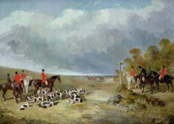 The Cambridgeshire Hunt The Meet near Foxton | John Frederick Herring Jnr | oil painting