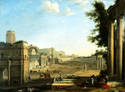 The Campo Vaccino Rome | Claude Lorrain | oil painting