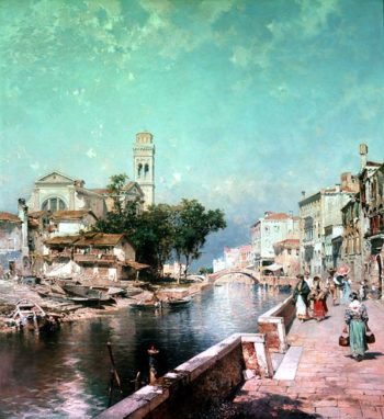 The Canal Tolentini | Franz Richard Unterberger | oil painting