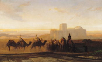 The Caravan | Alexandre Gabriel Decamps | oil painting