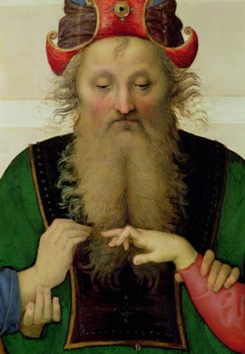 The Marriage of the Virgin detail of the high priest 1500 04 | Pietro Perugino | oil painting