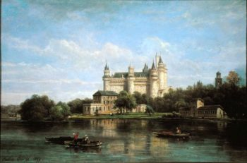 The Chateau de Pierrefonds 1869 | Pierre Justin Ouvrie | oil painting