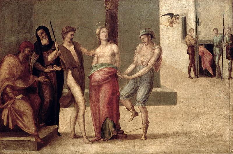 The Martyrdom of St Agnes   Francesco Granacci   oil painting
