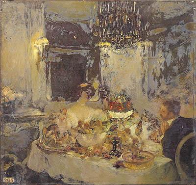 The Champagne | Gaston de La Touche | oil painting