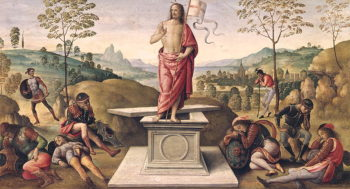 The Resurrection of Christ from the Convent of San Pietro Perugia 1496 98 | Pietro Perugino | oil painting