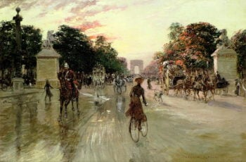 The Champs Elysees Paris | Georges Stein | oil painting
