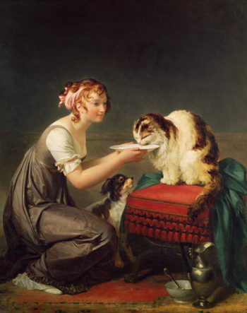 The Cat's Lunch | Marguerite Gerard | oil painting