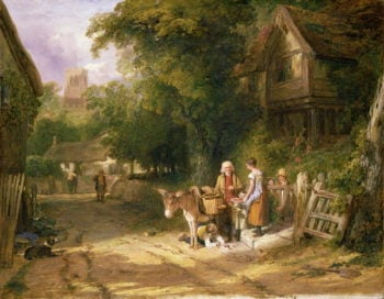 The Cherry Seller 1824 | William Collins | oil painting