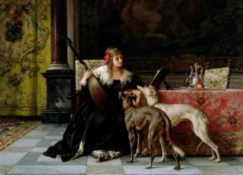 Sympathetic Friends   Florent Willems   oil painting