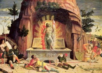 The Resurrection right hand predella panel from the Altarpiece of St Zeno of Verona 1456 60 | Andrea Mantegna | oil painting