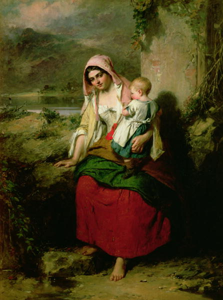 Taking Rest 1858   Thomas Faed   oil painting