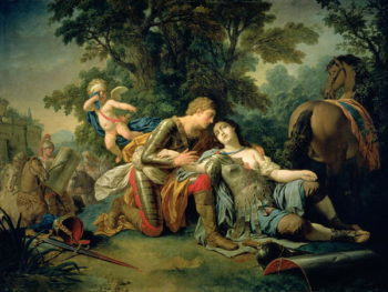 Tancred and Clorinda 1761 | Louis Jean Francois I Lagrenee | oil painting
