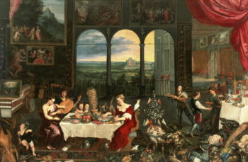 Taste Hearing and Touch 1618 | Jan the Elder Brueghel | oil painting