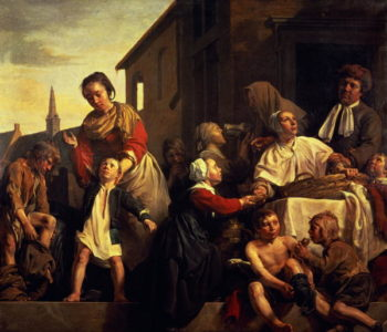 Tending the Orphans | Jan de Bray | oil painting