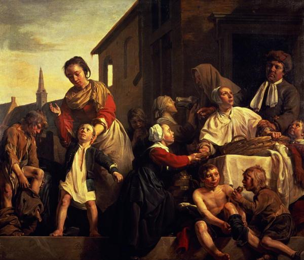 Tending the Orphans | Jan de Bray | oil painting