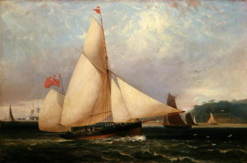 The 12th Duke of Norfolk's Yacht 'Arundel' | Thomas Luny | oil painting