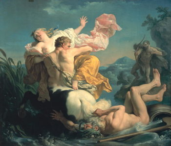 The Abduction of Deianeira by the Centaur Nessus 1755 | Louis Jean Francois I Lagrenee | oil painting