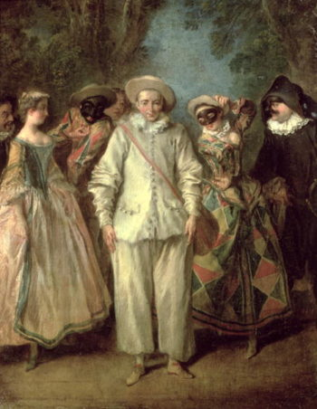 The Actors of the Commedia dell'Arte | Nicolas Lancret | oil painting