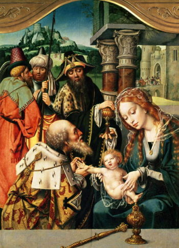 The Adoration of the Magi | Jan Gossaert | oil painting