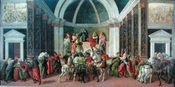 The Story of Virginia c.1490's | Sandro Botticelli | oil painting