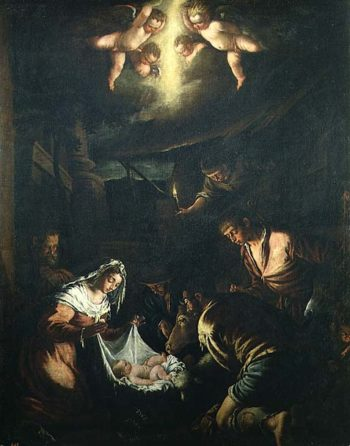 The Adoration of the Shepherds | Jacopo Bassano | oil painting