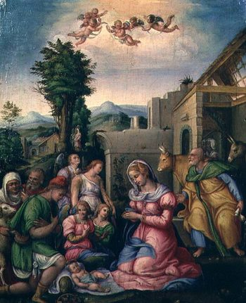 The Adoration of the Shepherds | Ubertini | oil painting