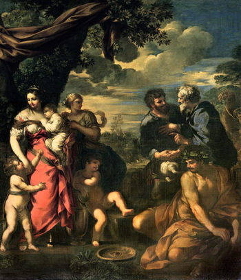 The Alliance of Jacob and Laban | Pietro da Cortona | oil painting