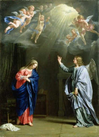 The Annunciation 1644 | Philippe de Champaigne | oil painting