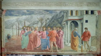 The Tribute Money from the Brancacci Chapel 1426   Tommaso Masaccio   oil painting