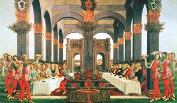 The Wedding Feast | Sandro Botticelli | oil painting