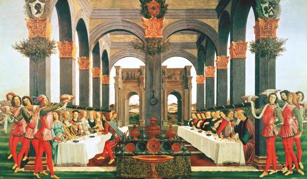 The Wedding Feast   Sandro Botticelli   oil painting