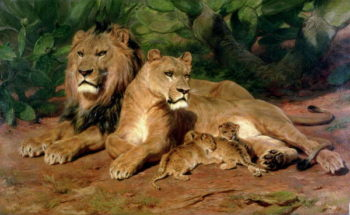The Lion at Home 1881 | Rosa Bonheur | oil painting