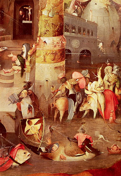 Triptych of the Temptation of St Anthony detail of the lower right hand side   Hieronymus Bosch   oil painting