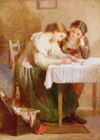 The Love Letter 1871 | Henry Le Jeune | oil painting