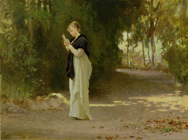 The Love Letter | Marcus Stone | oil painting