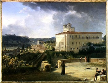View of the Villa Medici Rome 1813 | Nicolas Antoine Taunay | oil painting