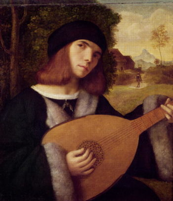 The Lute Player | Giovanni de Busi Cariani | oil painting