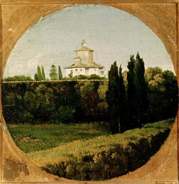 View of the Villa Medici Rome | Jean Auguste Dominique Ingres | oil painting