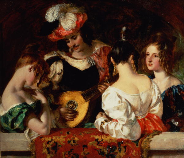 The Lute Player | William Etty | oil painting