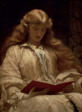 The Maid with the Golden Hair 1895 | Frederic Leighton | oil painting