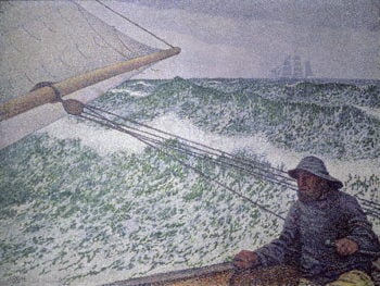 The Man at the Tiller 1892 | Theo van Rysselberghe | oil painting