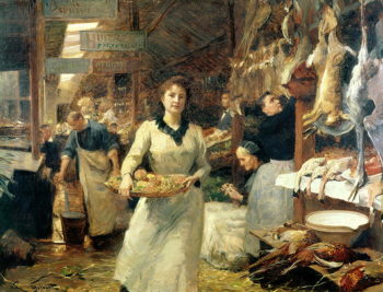 The Market Place | Victor Gabriel Gilbert | oil painting