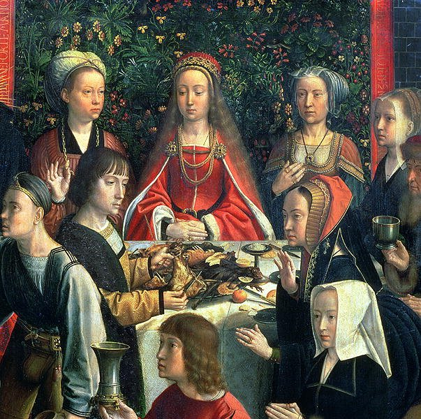 The Marriage at Cana detail of the bride and surrounding guests | Gerard David | oil painting