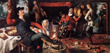 The Egg Dance 1552 | Pieter Aertsen | oil painting