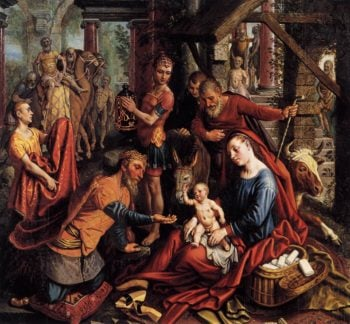 Triptych with the Adoration of the Magi (central panel) 1560 | Pieter Aertsen | oil painting