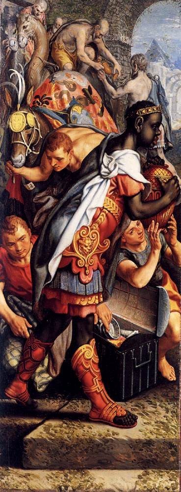 Left wing of a Triptych with the Adoration of the Magi 1560 | Pieter Aertsen | oil painting